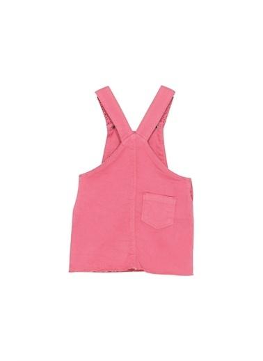 Silversun Kids Kız Bebek Cepli Askılı Dokuma Elbise Ek 115856 Pembe
